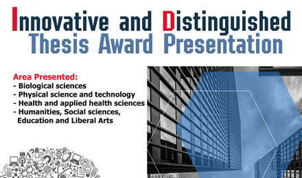 Innovative and Distinguished Thesis Awards Presentation